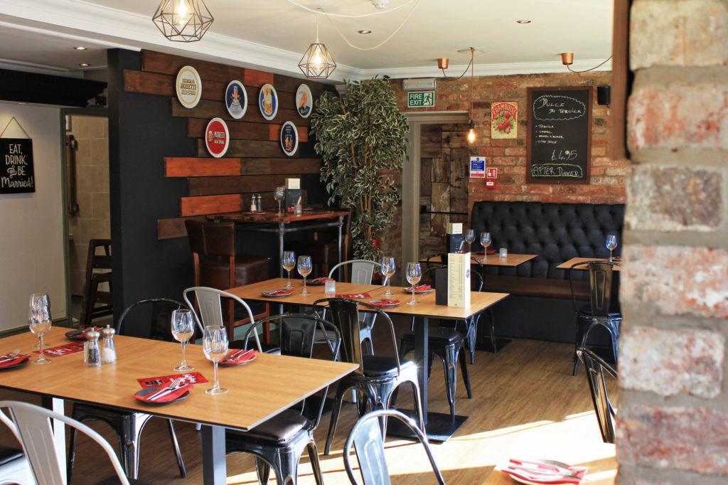 Interior of Italian restaurant St Annes Cicchetti